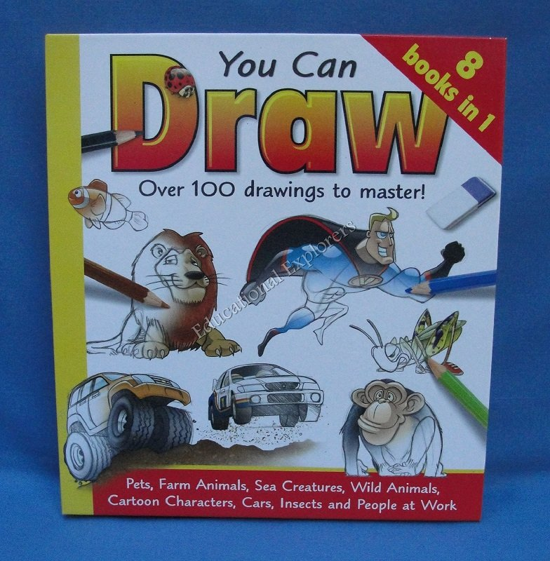 YOU CAN LEARN TO DRAW Damien Toll Hardcover Art Instruction Book Beginners Teaching