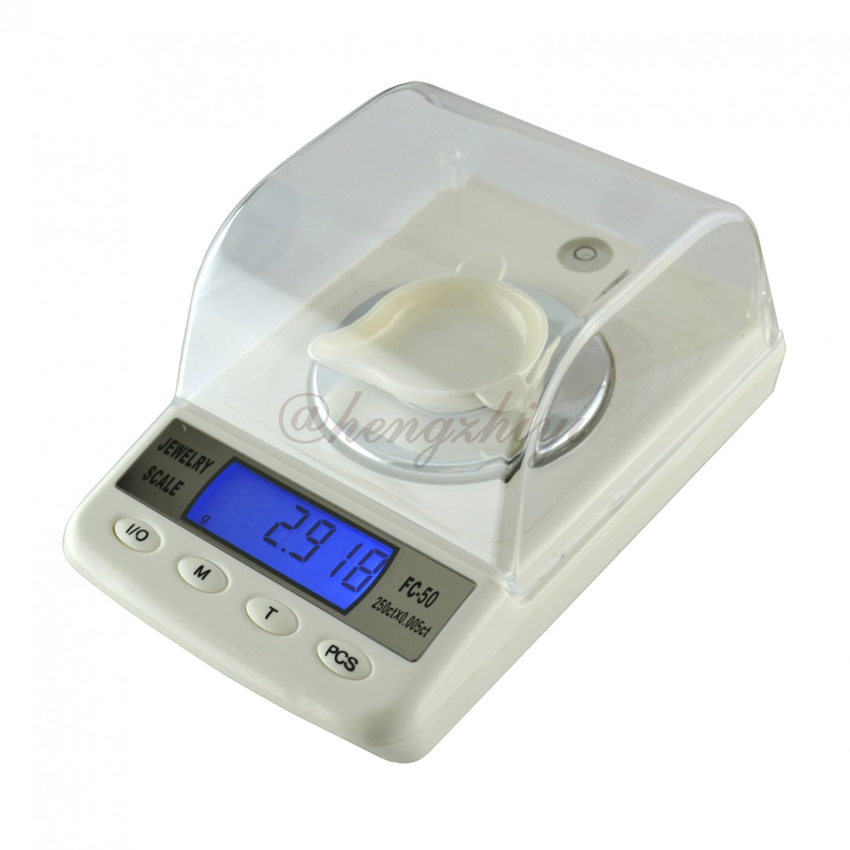 50g x 0.001g High Precision Gem Jewelry Digital Diamond Carat Scale w Counting, Free Shipping