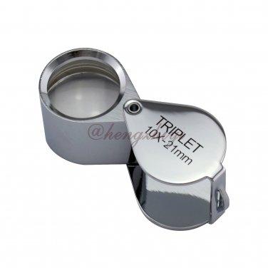 10X 21mm Jewelry Diamond Gemstone Triplet Loupe Magnifier w Achromatic Aplanatic Lens, Free Shipping