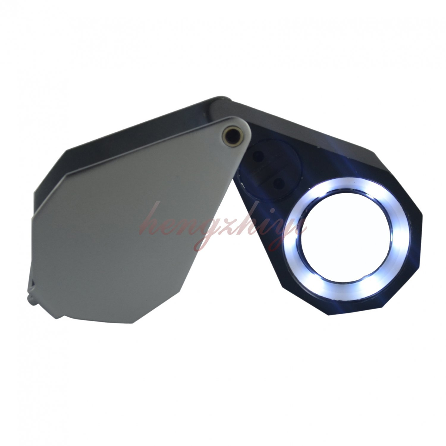 10X Diamond Gem Loupe w Six LED Light + 21mm Achromatic Aplanatic Len + Leather Case, Free Shipping