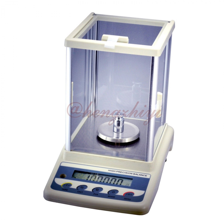 200g x 0.001g Precision Digital Laboratory Balance w Wind Shield + Germany Sensor + Weights
