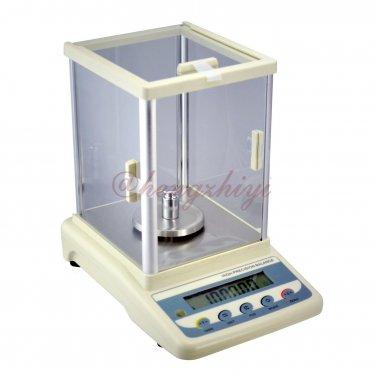 1000ct x 0.005ct Jewelry Carat Scale Lab Balance + German Sensor + Wind Shield + RS232 Interface