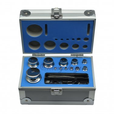 F1 Grade 1mg-500g Stainless Steel Scale Calibration Weight Kit Set w Certificate, Free Shipping