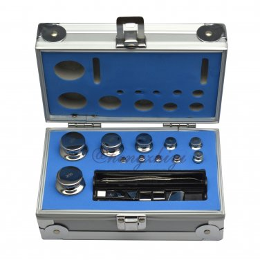 F1 Grade 1mg-200g Stainless Steel Scale Calibration Weight Kit Set w Certificate, Free Shipping