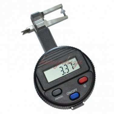 0-25mm Electronic Pocket Jewel Gem Thickness Gauge w 0.01mm Reading Beads Tools, Free Shipping