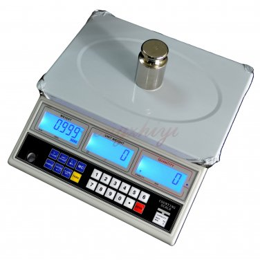 30kg x 1g Precision Digital Counting Parts Coin Scale Table Top Balance 66LB, Free Shipping