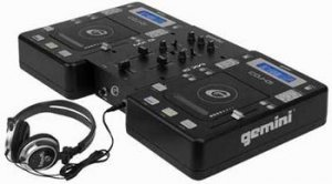 Gemini Disco Mix 5.0 DJ System (with DJ CD Players, Mixer, Headphones and Case)