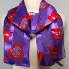 Silk Scarf  Purple - Red Hatter Scarf
