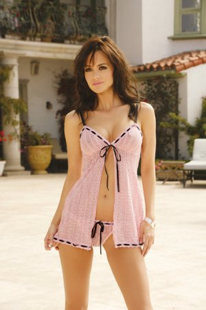Pink Lacey Baby Doll   Item 4508X