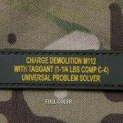 C4 PROBLEM TACTICAL BLACK OPS COMBAT ISAF BADGE MORALE PVC VELCRO MILITARY PATCH