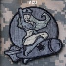 PINUP GIRL ACU COMBAT TACTICAL BLACK OPS ISAF BADGE MORALE VELCRO MILITARY PATCH