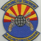 USAF Air Force 82nd Security Forces Squadron Military Patch PREPARING 4 TOMORROW