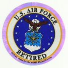US AIR FORCE RETIRED MILITARY CAR VEHICLE WINDOW DECAL PATRIOTIC STICKER