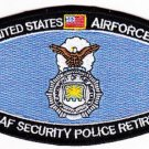 UNITED STATES AIRFORCE USAF SECURITY POLICE RETIRED MOS MILITARY PATCH