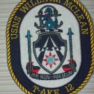 US Navy T-AKE 12 USNS WILLIAM MCLEAN DRY CARGO AMMUNITION SHIP MILITARY PATCH