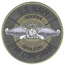 USMC FMF CORPSMAN DEVIL DOG US NAVY HOORAH MILITARY PATCH - MARINE CORPS USN