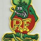 "OFFICIALLY LICENSED ED ""BIG DADDY"" ROTH RAT FINK HOT ROD PATCH GREEN & RED"