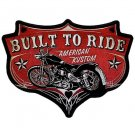 BUILT TO RIDE AMERICAN KUSTOM MOTORCYCLE BIKER PATCH
