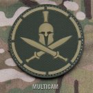SPARTAN MULTICAM TACTICAL COMBAT BLACKOPS BADGE MORALE PVC VELCRO MILITARY PATCH
