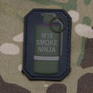 M18 SMOKE NINJA TACTICAL BLACK OPS COMBAT BADGE MORALE PVC VELCRO MILITARY PATCH