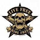 CAMO SKULL LIVE FREE TACTICAL MORALE MILITARY CAR VEHICLE WINDOW DECAL STICKER
