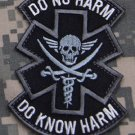 DO NO HARM PIRATE SWAT TACTICAL COMBAT MEDIC BADGE MORALE VELCRO MILITARY PATCH