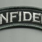 INFIDEL ROCKER TAB SWAT COMBAT TACTICAL BADGE MORALE VELCRO MILITARY PATCH