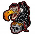 BUZZARD VULTURE WITH SKULL MOTORCYCLE JACKET LEATHER VEST BIKER PATCH