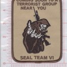 SEAL TEAM VI DEATH TO THE TALIBAN DESERT REAPER SKULL MILITARY PATCH 6 SIX