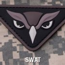 OWL HEAD SWAT ISAF OIF COMBAT TACTICAL BADGE MORALE 3D PVC VELCRO MILITARY PATCH