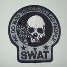 SWAT SNIPER DEATH SKULL PATCH (GRAY&BLACK)