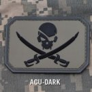 PIRATE SKULL FLAG ACU DRK TACTICAL COMBAT BADGE MORALE PVC VELCRO MILITARY PATCH