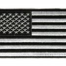 "4"" BLACK & SILVER AMERICAN FLAG MOTORCYCLE JACKET BIKER VEST MILITARY PATCH"