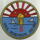 US NAVY DD-562 USS ROBINSON Fletcher Class Destroyer Military Patch