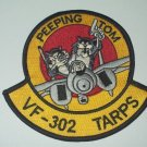 NAVY F-14 TOMCAT FIGHTER SQUADRON VF-302 TARPS MILITARY PATCH PEEPING TOM