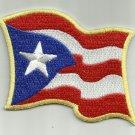 PUERTO RICAN WAVY FLAG MOTORCYCLE LEATHER JACKET VEST BIKER PATCH