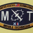 UNITED STATES SUBMARINER - MT - MISSILE TECHNICIAN MILITARY RATING PATCH