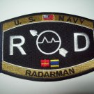 United States Navy RADARMAN Ratings Patch - RD - Military Patch