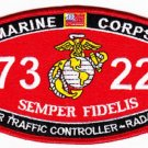 "USMC ""AIR TRAFFIC CONTROLLER - RADAR"" 7322 MOS MILITARY PATCH SEMPER FIDELIS"