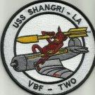 NAVY VBF-2 Aviation Fleet Bombing Squadron TWO Military Patch USS SHANGRI-LA