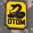 DTOM COLOR DONT TREAD TACTICAL COMBAT BADGE MORALE PVC VELCRO MILITARY PATCH