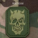DEVIL SKULL - MULTI CAM - TACTICAL COMBAT BADGE MORALE PVC VELCRO MILITARY PATCH