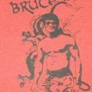 BRUCE LEE DRAGON RED CANVAS BACK PATCH