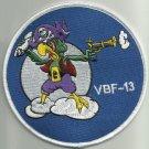 NAVY VBF-13 Aviation Fleet Fighter Bombing Squadron Thirteen Military Patch BIRD