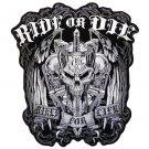 "RIDE OR DIE ""BIKER FOR LIFE"" MILITARY VET/BIKER PATCH"