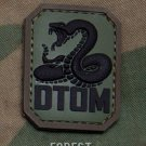DTOM FOREST DONT TREAD TACTICAL BLACK OPS BADGE MORALE PVC VELCRO MILITARY PATCH