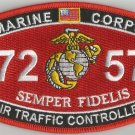 "USMC ""AIR TRAFFIC CONTROLLER"" 7257 MOS MILITARY PATCH SEMPER FIDELIS MARINE CORP"