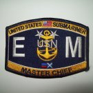 United States SUBMARINER Electrican's Mate Ratings Master Chief Military Patch