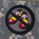NO CLOWN SHOES - SWAT TACTICAL BLACK OPS BADGE MORALE PVC VELCRO MILITARY PATCH
