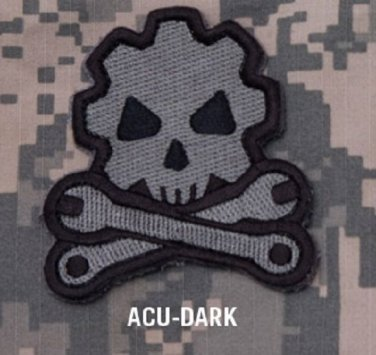 DEATH MECHANIC - ACU DARK - GEARHEAD TACTICAL BADGE MORALE VELCRO MILITARY PATCH